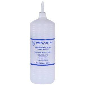 Álcool Isopropílico 1000ml com Bico Implastec Limpeza Bga Smd Placa
