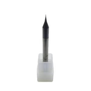 Micro Fresa 0.4mm x 0.8 x 50 H4 Topo Reto 2 Cortes HRC60